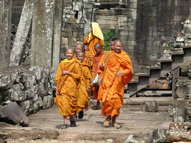 Cambodia, Angkor Wat, Monks, Temple, Angkor, Ruin