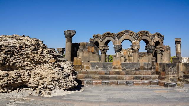 Cathedral, Column, Arch, Ruin, Historic, Architecture