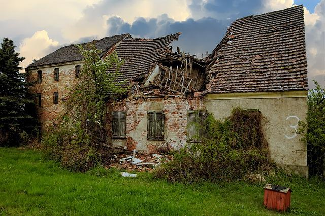 Ruin, House, Architecture, Old, Building, Grass, Sky