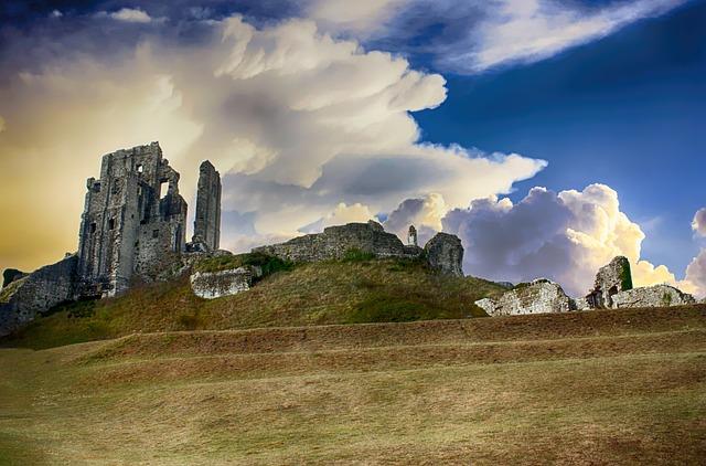 Castle, Ruin, Ancient, Landscape, Scenic, Fortress