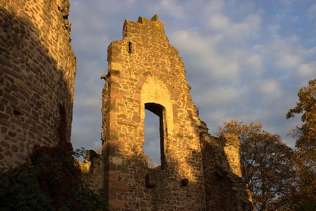 Burgruine, Ruin, Masonry, Three Oak Grove, Old, Castle