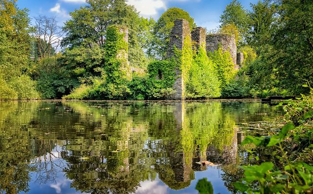 Castle, Ruin, Wasserburg, Middle Ages, Water, Lake