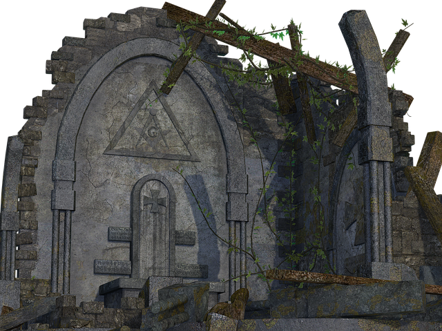 Architecture, Bow, Stone, Green, Old, Crash, Ruined