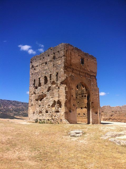 Morocco, Fez, Ruins, Old, Ancient, Tower, Building