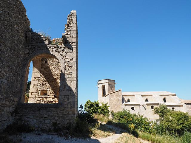 Oppede-le-vieux, Ruins, Ruined City, Church