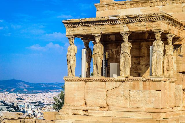 Athens, Caryatid, Greece, Temple, Acropolis, Ruins