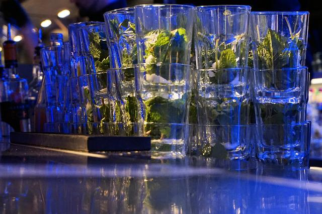 Mojito, Glasses, Party, Mint, Rum, Bar, Coctail, Drink