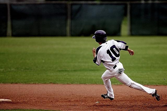 Baseball, Runner, Action, Player, Athlete, Running