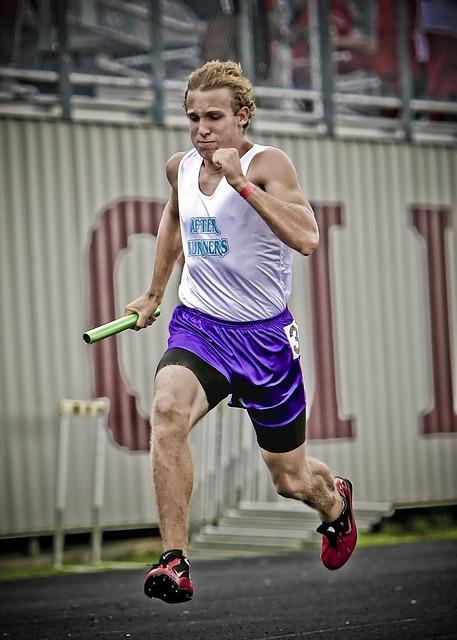 Runner, Track Athlete, Relay Race, Sport, Track, Run