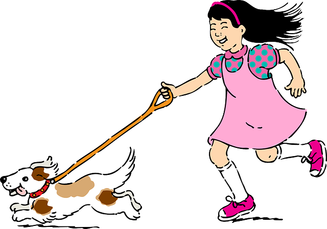 Pet, Pets, Girl, Dog, Puppy, Running, Play, Kid, Child