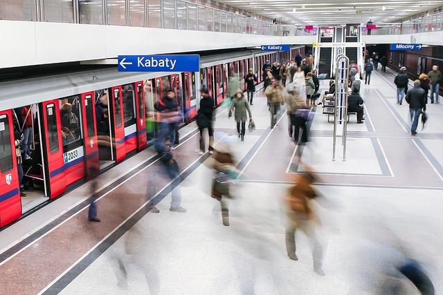 Metro, Subway, Rush, Hours, Underground, Warsaw