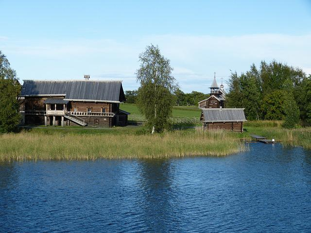 Farm, Russia, Farmhouse, Wood, Bar, Building