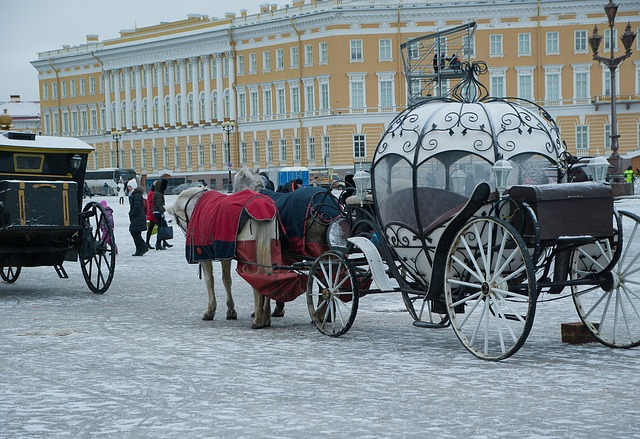 Russia, Saint-petersburg, Carriages