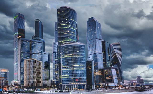 Moscow, City, Megalopolis, Russia, Street, Architecture