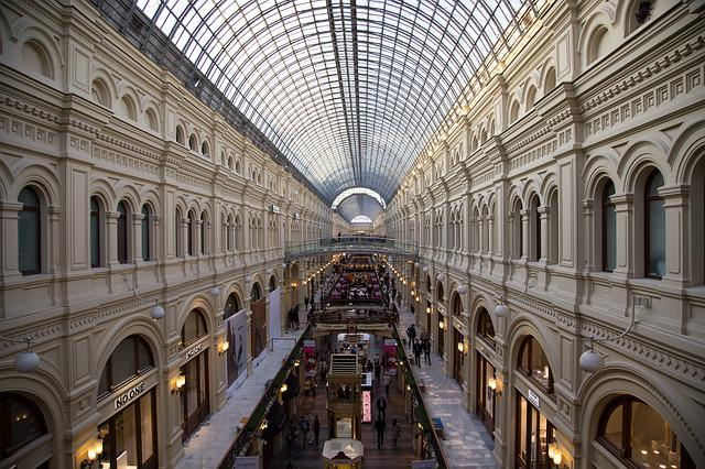 Gum, Moscow, Russia, Tourism, General Store, Shop