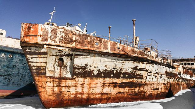 Wrecks, Port, Boats, Rust