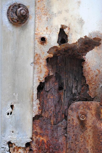 Texture, Rust, Brown, White, Peeling Paint