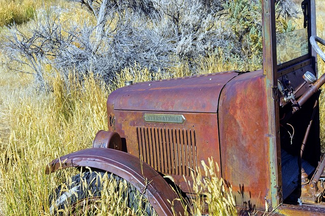 Rusted Old International Truck, Rusted, Vintage, Old