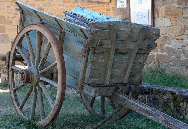 Wheelbarrow, Wood, Cart, Wheel, Rustic, Old, Hitch