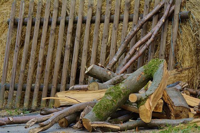 Wood, Wood Fence, Stack Wood, Rustic, Firewood, Farm