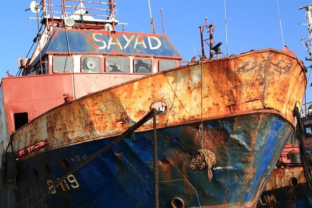 Morocco, Agadir, Boat, Ship, Fishing, Rusty, Bow