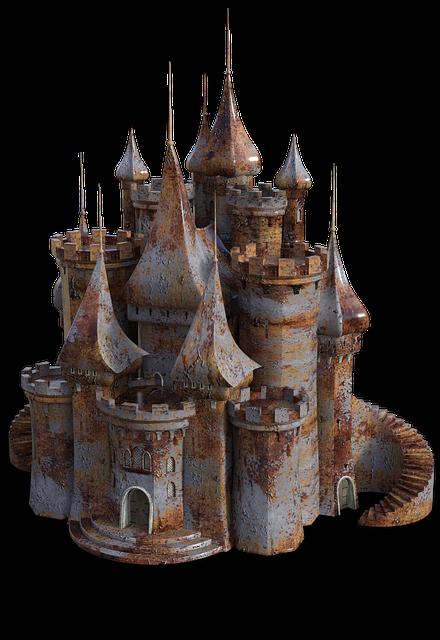 Castle, Rusty, Old, Building, Rust, Fantasy