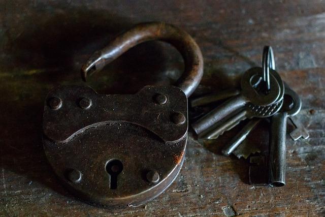 Castle, Keys, Close, Rusty, Guard, Security, Iron