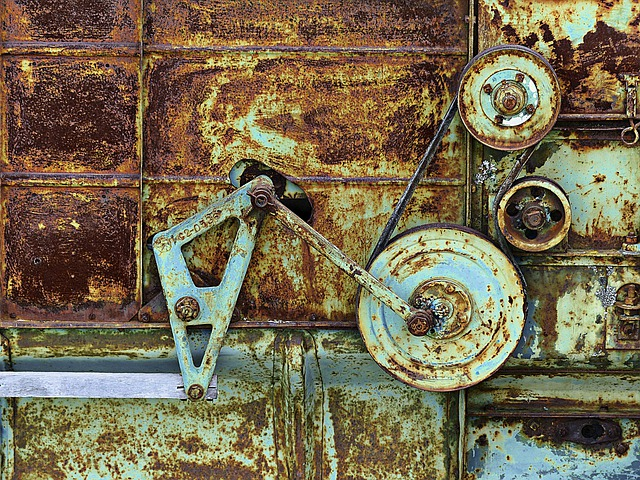 Rusty, Metal, Old Machine, Drive Mechanism