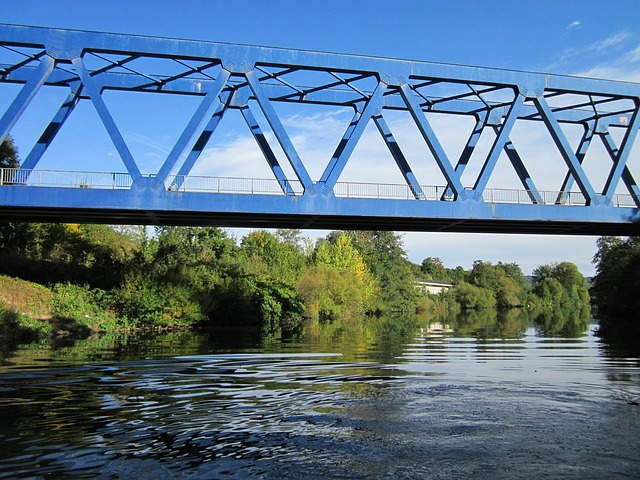Bridge, Saar, Saarbruecken, River, Railway, Crossing