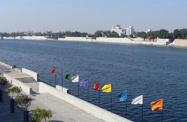 River, Sabarmati, Riverfront, Recreation, Cityscape