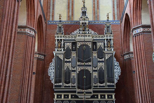 Organ, Nikolai Church, Wismar, Sacral, Church