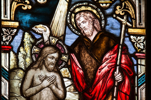 Church Window, Baptism, Sacrament, Glass Window