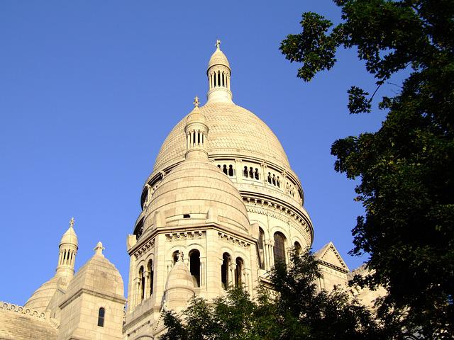 Sacre Coeur, Basilica, Paris, France, Architecture