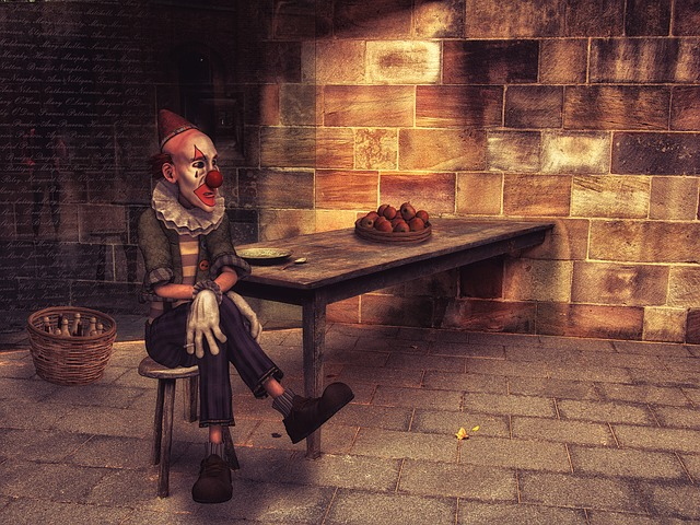 Clown, Lonely, Abandoned, Sad, Fantasy