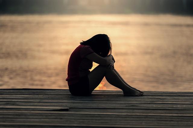 Girl, Sitting, Jetty, Docks, Sad, Evening, Morning, One
