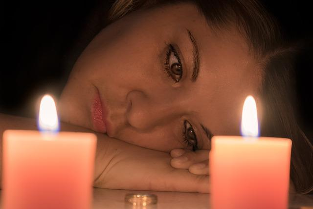 Woman Face, Divorce, Sadness, Candles, Good Bye