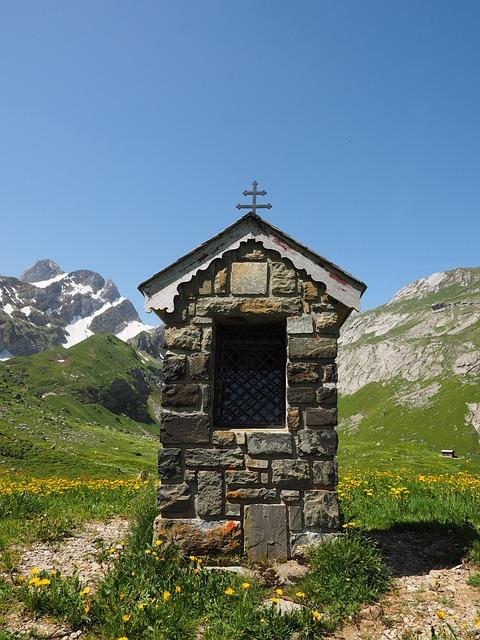 Chapel, Säntis, Bergdorf, Meglisalp, Alpine Village