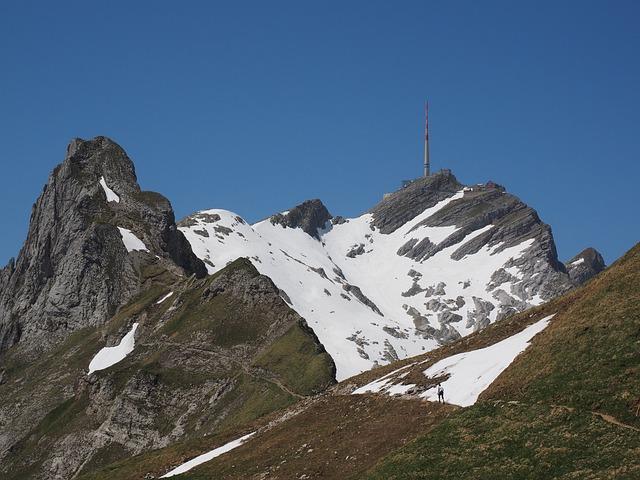 Säntis, Lenses Ridge, Mountain, Alpine, Snow