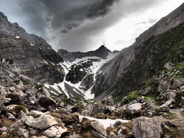 Säntis, Valley, Mountain Valley, Nick, Mountain Peak