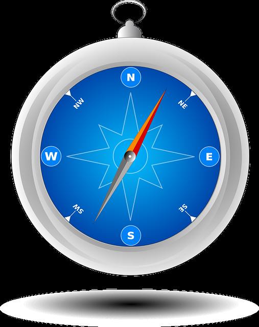 Compass, Safari, Navigation, Direction, North, South