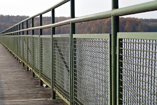 Fencing, Handrail, Bridge, Water, Safety, Metal