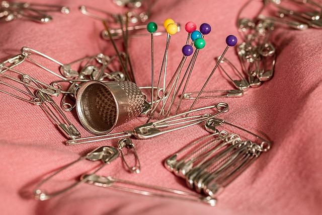 Sewing, Thimble, Pins, Safety Pins, Needle, Mending