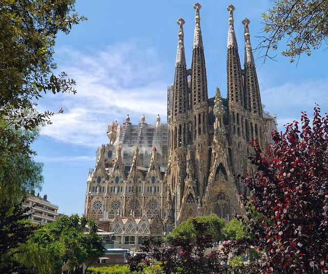 Sagrada Familia, Cathedral, Architecture, Monument