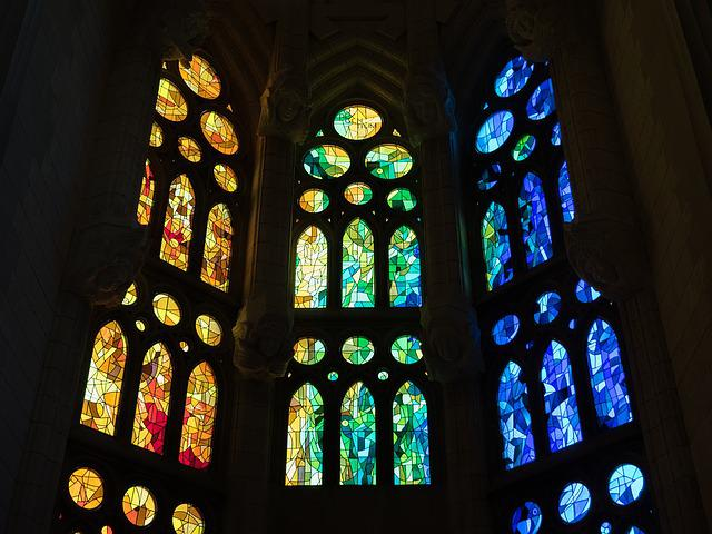 Stained Glass Window, Cathedral, Sagrada Família