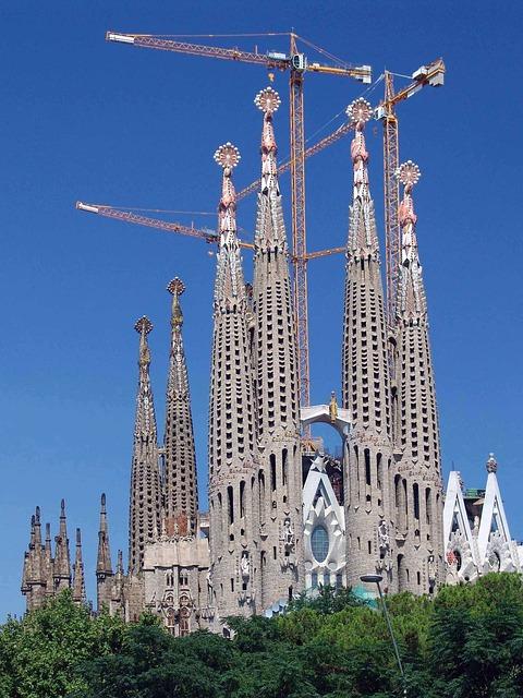 Sagrada Familia, Barcelona, Spain, Church, Catalonia