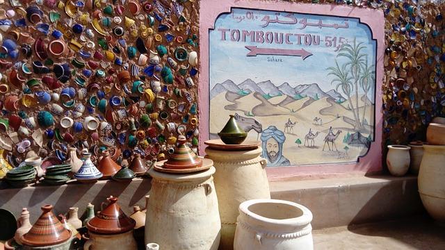 Ceramics, Colorful, Handicraft, Direction, Sahara