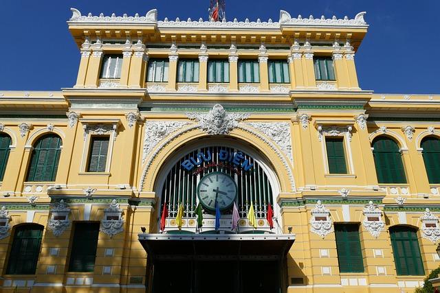 Saigon Ho Chi Minh City, Vietnam, Post, Eiffel