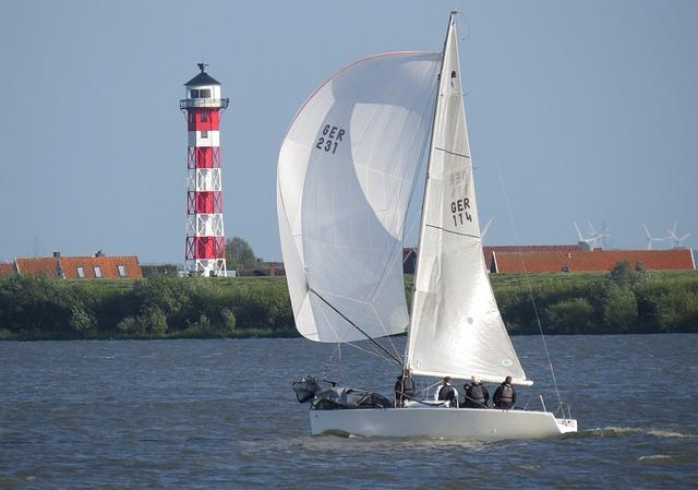 Sail, Maritime, Daymark, Seafaring, Elbe