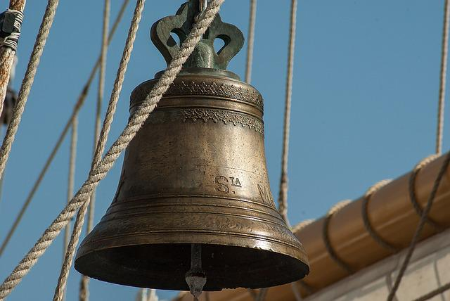 Bell, Boat, Sailboat, Rope