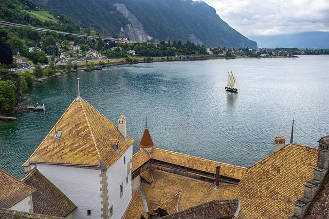Castle, Lake, Sailboat, Roofing, Fortress, Fort